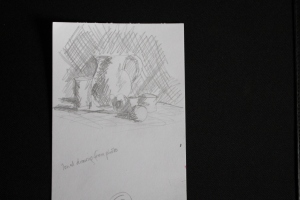 quick sketch of tone of still life